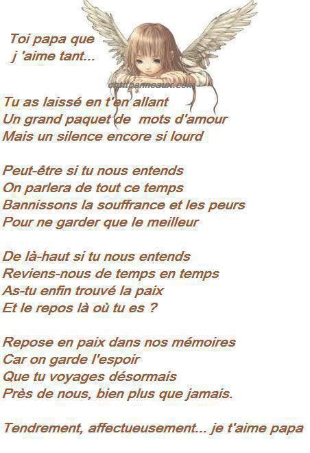 Poemes et citations - Poeme anniversaire papa ...